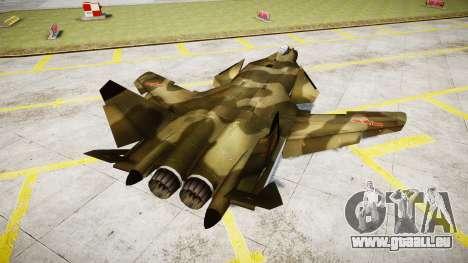 Su-47 Berkut Wald für GTA 4 hinten links Ansicht