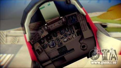 MIG-29 Shrine Maiden Hiragi pour GTA San Andreas vue arrière