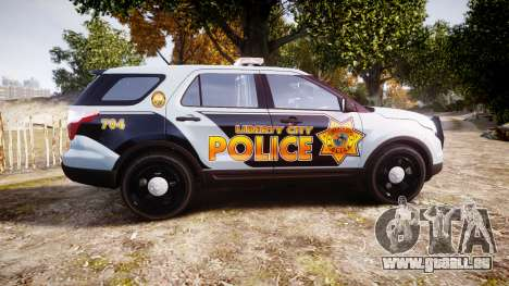 Ford Explorer Police Interceptor [ELS] marked für GTA 4 linke Ansicht