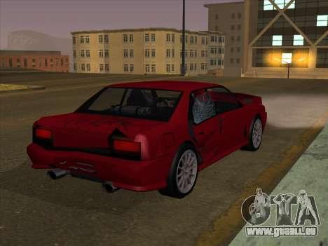 Sultan GunkinModding pour GTA San Andreas vue arrière