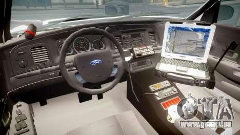 Ford Crown Victoria LCPD Unmarked [ELS] für GTA 4 Rückansicht