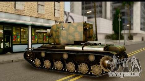 KV-2 German Captured pour GTA San Andreas vue de droite