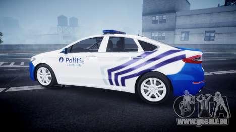 Ford Fusion 2014 Belgian Police [ELS] pour GTA 4 est une gauche