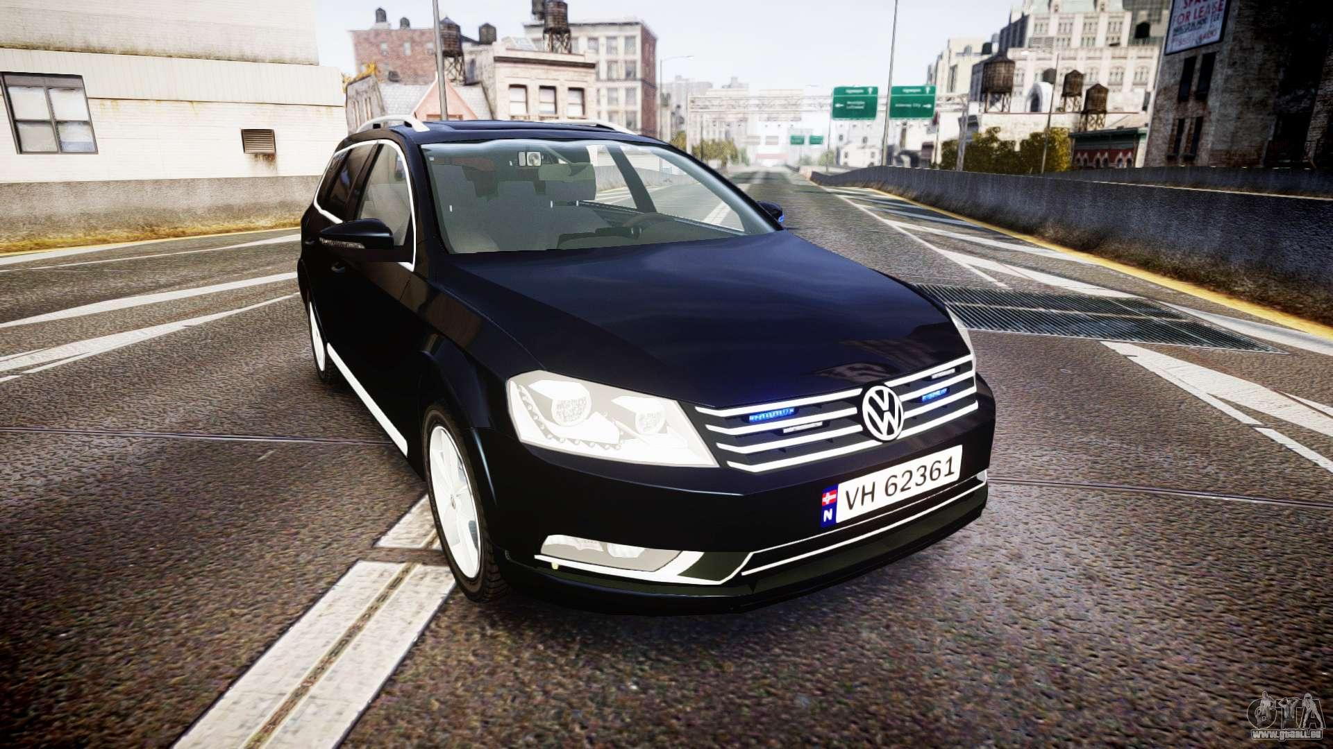 Volkswagen Passat B7 Police 2015 Els Unmarked Pour Gta 4