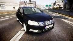Volkswagen Passat B7 Police 2015 [ELS] unmarked