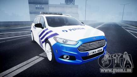 Ford Fusion Estate 2014 Belgian Police [ELS] pour GTA 4