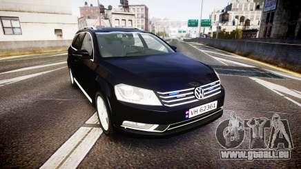 Volkswagen Passat B7 Police 2015 [ELS] unmarked pour GTA 4