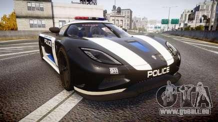 Koenigsegg Agera 2013 Police [EPM] v1.1 PJ3 pour GTA 4