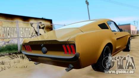 Shelby Mustang GT 1967 pour GTA San Andreas laissé vue