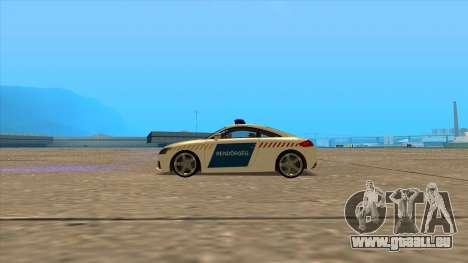 Audi TT RS 2011 ungarischen Polizei für GTA San Andreas linke Ansicht