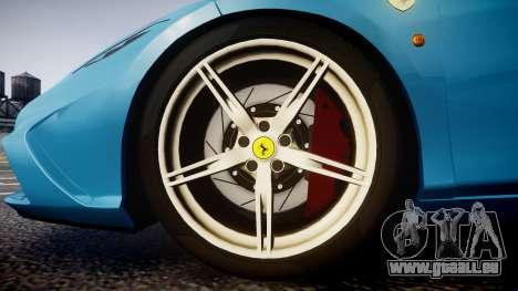 Ferrari 458 Speciale 2014 pour GTA 4 Vue arrière