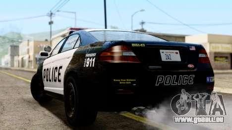 GTA 5 Vapid Police Interceptor v2 IVF pour GTA San Andreas laissé vue