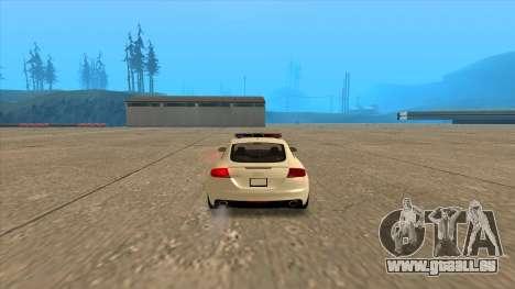 Audi TT RS 2011 ungarischen Polizei für GTA San Andreas zurück linke Ansicht