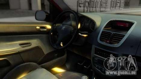 Peugeot 206 TowTruck pour GTA San Andreas vue de droite