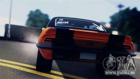 Chevrolet Camaro SS Dragster für GTA San Andreas Rückansicht