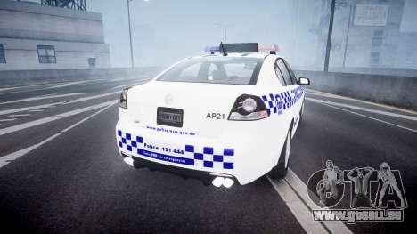 Holden Commodore Omega NSWPF [ELS] für GTA 4 hinten links Ansicht