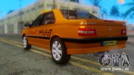 Peugeot 405 Slx Taxi pour GTA San Andreas laissé vue