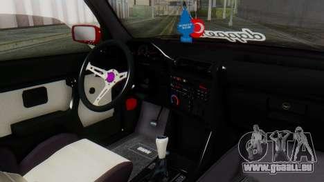 BMW M3 E30 B. O. de la Construction pour GTA San Andreas vue de droite