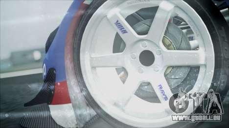 Volvo S60 Racing pour GTA San Andreas sur la vue arrière gauche