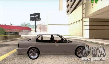 BMW 750iL pour GTA San Andreas sur la vue arrière gauche