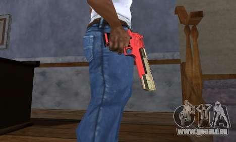 Black and Red Deagle für GTA San Andreas