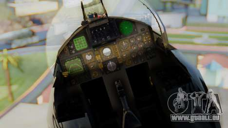 F-15C Eagle Luftwaffe JG 73 für GTA San Andreas Rückansicht