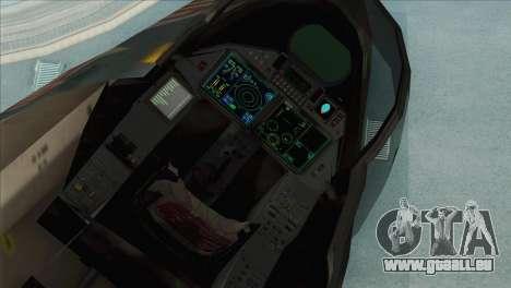 Sukhoi SU-35BM Mobius Squadron pour GTA San Andreas vue arrière