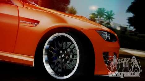 BMW M3 E92 Hamman pour GTA San Andreas vue de droite