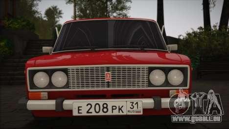 VAZ 2106 MansorY pour GTA San Andreas laissé vue