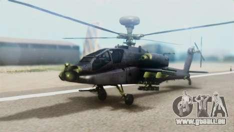 AH-64D Apache Longbow für GTA San Andreas
