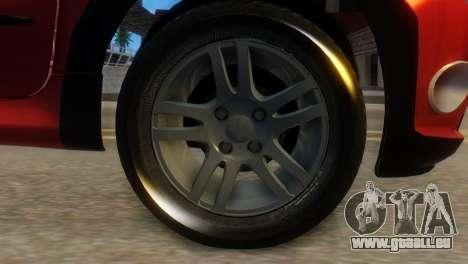 Peugeot 206 TowTruck pour GTA San Andreas sur la vue arrière gauche