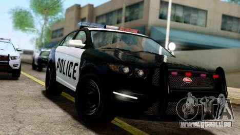 GTA 5 Vapid Police Interceptor v2 IVF pour GTA San Andreas sur la vue arrière gauche