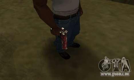 Red Puma Deagle pour GTA San Andreas troisième écran