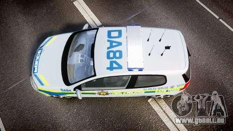 Volkswagen Golf South African Police [ELS] für GTA 4 rechte Ansicht