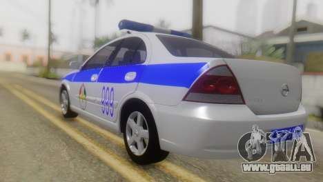 Nissan Almera Iraqi Police pour GTA San Andreas laissé vue
