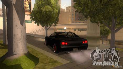 Super Elegy pour GTA San Andreas sur la vue arrière gauche