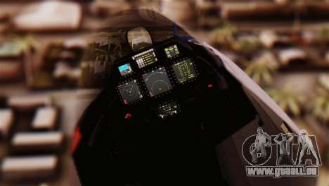 F-22 Raptor pour GTA San Andreas vue de droite