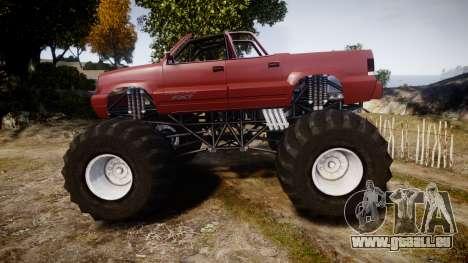 Albany Cavalcade FXT Cabrio Monster Truck für GTA 4 linke Ansicht