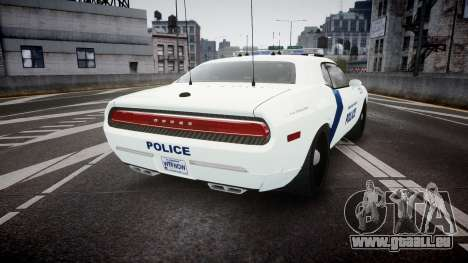Dodge Challenger Homeland Security [ELS] für GTA 4 hinten links Ansicht