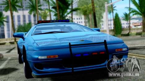Lotus Esprit S4 V8 1998 Police Edition pour GTA San Andreas vue de droite