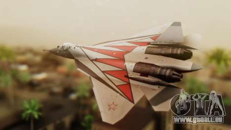 T-50 PAK-FA -Akula- pour GTA San Andreas laissé vue