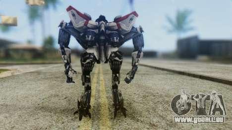 Starscream Skin from Transformers v1 pour GTA San Andreas troisième écran