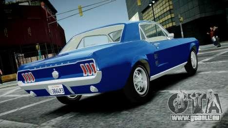 Ford Mustang 1967 für GTA 4 linke Ansicht