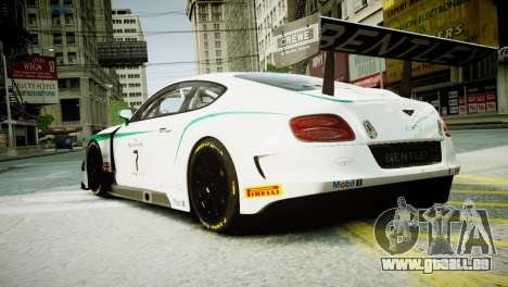 Bentley Continental GT3 2014 für GTA 4 linke Ansicht