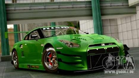 Nissan GT-R (R35) GT3 2012 PJ1 für GTA San Andreas