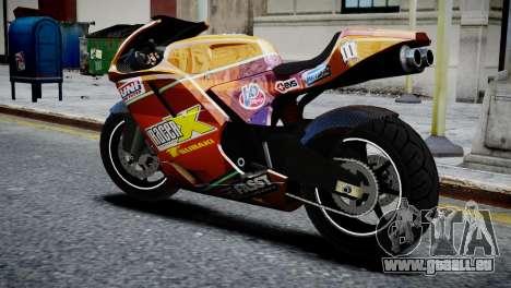 Bike Bati 2 HD Skin 1 pour GTA 4 est une gauche
