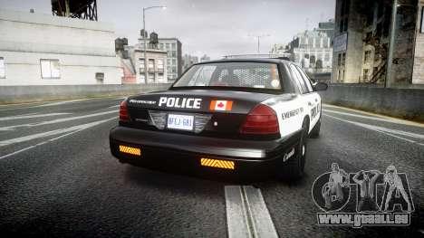 Ford Crown Victoria Alderney Police pour GTA 4 Vue arrière de la gauche