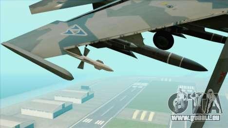 Sukhoi SU-35BM Mobius Squadron für GTA San Andreas rechten Ansicht