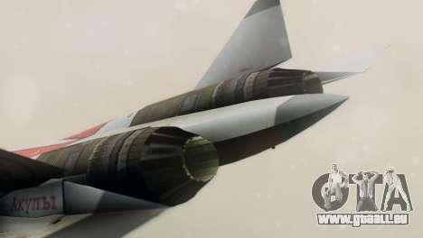 T-50 PAK-FA -Akula- pour GTA San Andreas vue de droite