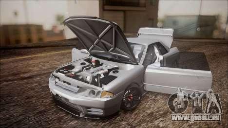 Nissan Skyline R32 pour GTA San Andreas vue arrière